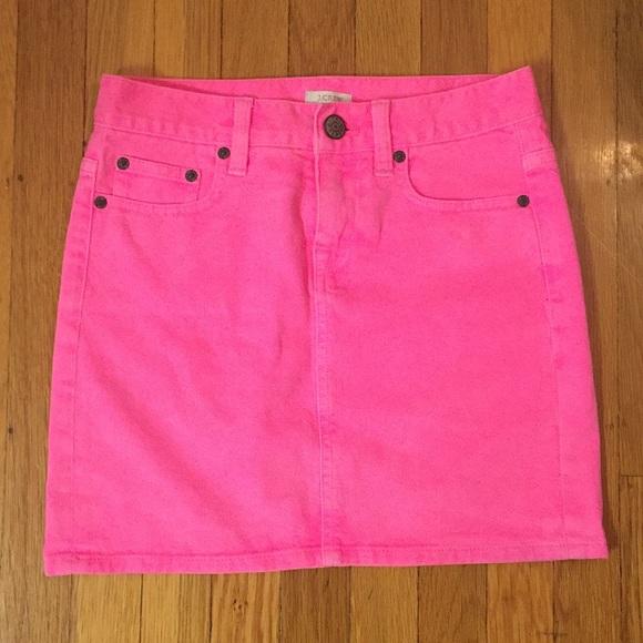 924bbda476 J. Crew Dresses & Skirts - Jcrew Hot Pink Denim Skirt, Size 24